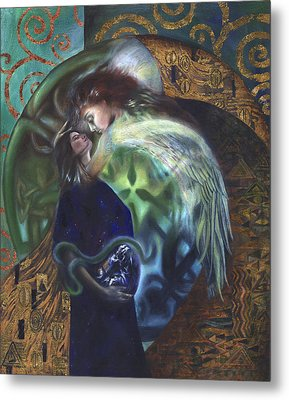Metal Print featuring the painting The Birth Of The World by Ragen Mendenhall