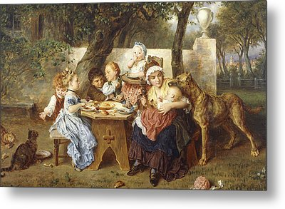 The Birthday Party Metal Print by Ludwig Knaus