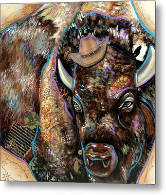 The Bison Metal Print
