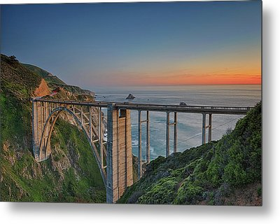 The Bixby Bridge Metal Print by Aron Kearney