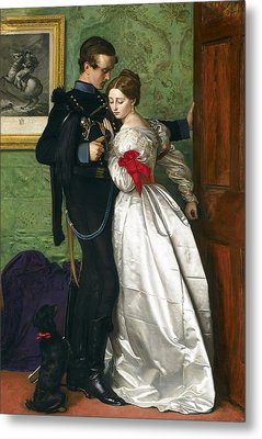 The Black Brunswicker Metal Print by Sir John Everett Millais