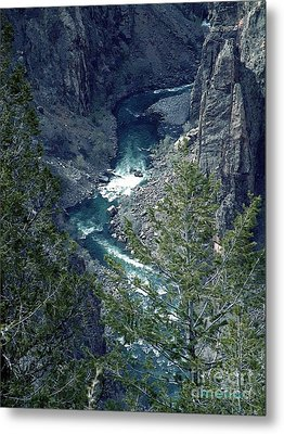 Metal Print featuring the painting The Black Canyon Of The Gunnison by RC DeWinter