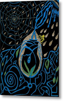 The Black Rose Metal Print by Michelle Meaney
