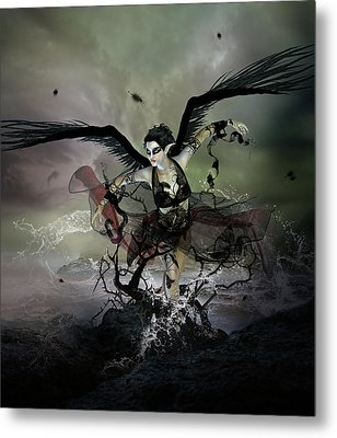 The Black Swan Metal Print by Mary Hood