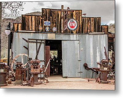 The Blacksmith Shop Metal Print