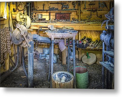 The Blacksmith's Shoppe Metal Print by Debra and Dave Vanderlaan