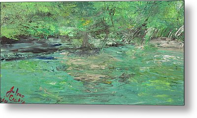 The Blanco At Wimberly Metal Print by Julene Franki