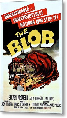 The Blob  Metal Print by Movie Poster Prints