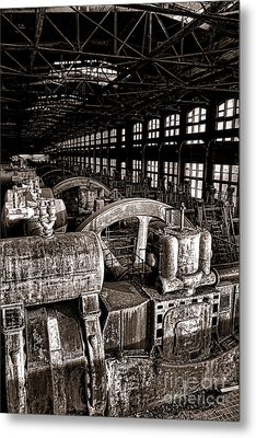 The Blower House At Bethlehem Steel  Metal Print by Olivier Le Queinec