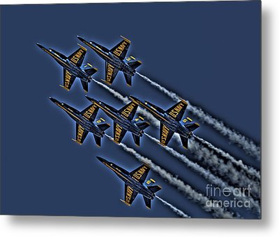 The Blue Angels Metal Print by Corky Willis Atlanta Photography