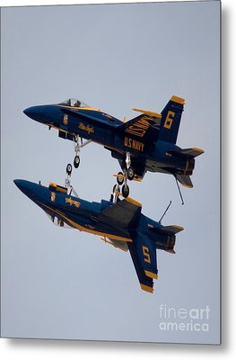 The Blue Angels Flying Over The Another Metal Print by Ivete Basso Photography