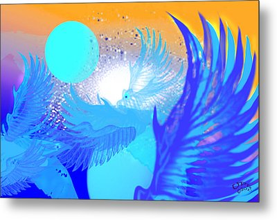 The Blue Avians Metal Print