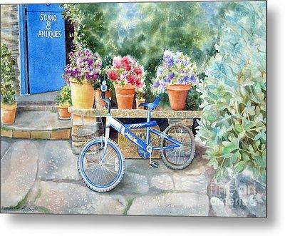 The Blue Bicycle Metal Print by Deborah Ronglien