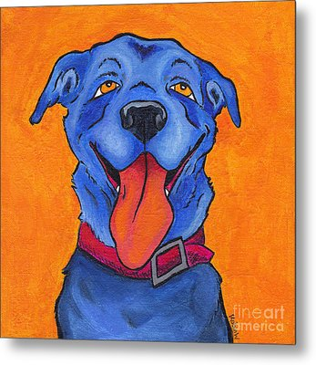 The Blue Dog Of Sandestin Metal Print by Robin Wiesneth