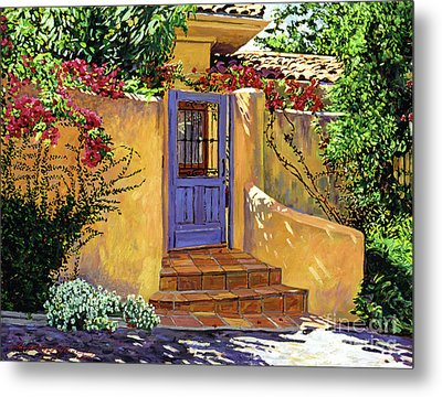 The Blue Door Metal Print by David Lloyd Glover
