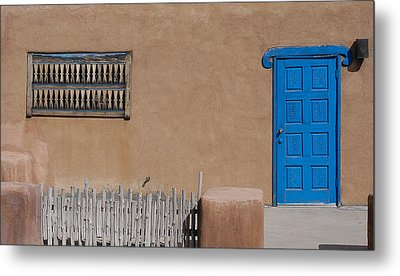 Metal Print featuring the photograph The Blue Door by Gary Cloud