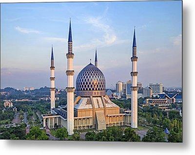 The Blue Masjid Metal Print by Mohd Rizal Omar Baki