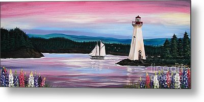 The Blue Nose II At Baddeck Nova Scotia Metal Print by Patricia L Davidson