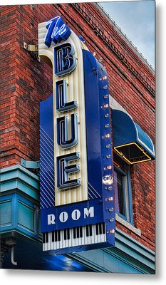 The Blue Room Sign Metal Print
