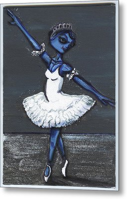 The Blue Swan Metal Print by Similar Alien
