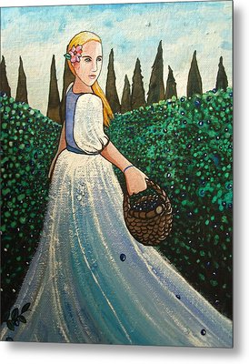 The Blueberry Harvest Metal Print