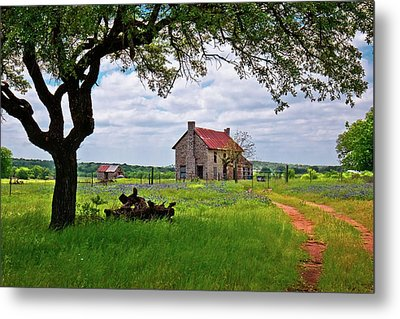 Metal Print featuring the photograph The Bluebonnet House by Linda Unger