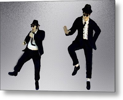 Metal Print featuring the painting The Blues Brothers by Jeff DOttavio