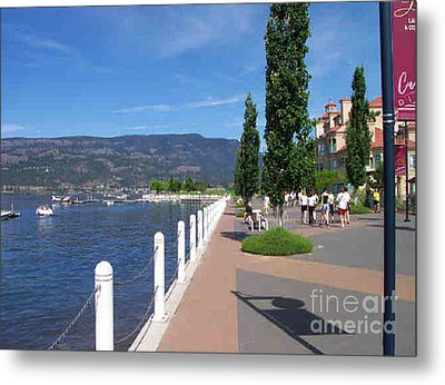 Metal Print featuring the painting The Boardwalk In Kelowna   by Rod Jellison