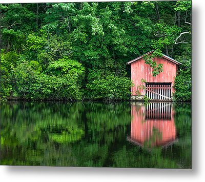 The Boat House At Desoto Falls Metal Print by Phillip Burrow