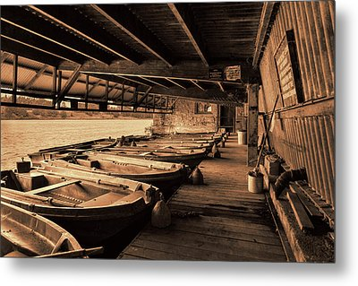 Metal Print featuring the photograph The Boat House  by Scott Carruthers