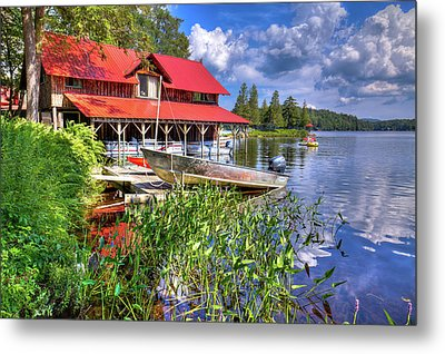 Metal Print featuring the photograph The Boathouse At Covewood by David Patterson