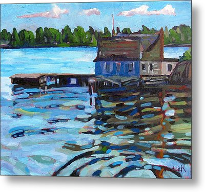 The Boathouse Of Zavicon Metal Print by Phil Chadwick