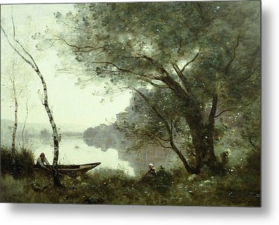 The Boatman Of Mortefontaine Metal Print