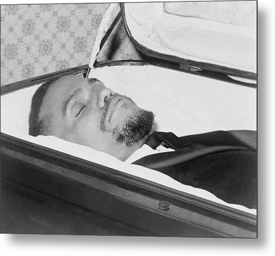 The Body Of Malcolm X, Slain Negro Metal Print by Everett
