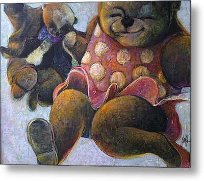 Metal Print featuring the painting The Boogie Woogy Bears by Eleatta Diver