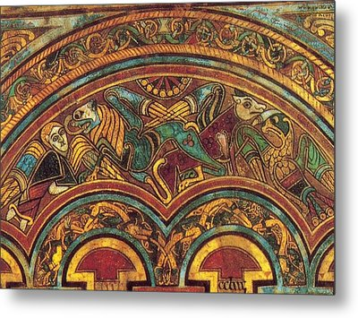 The Book Of Kells Metal Print by Celtic Monks