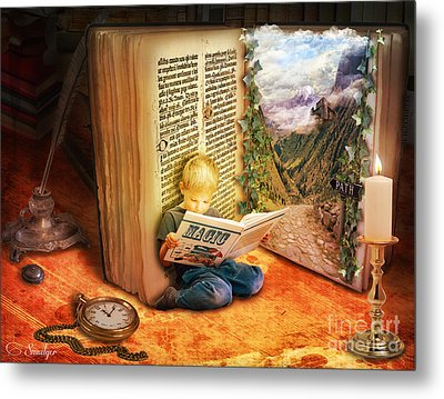 The Book Of Magic Metal Print by Eugene James