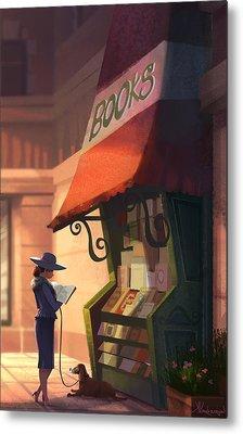 The Bookstore Metal Print by Kristina Vardazaryan
