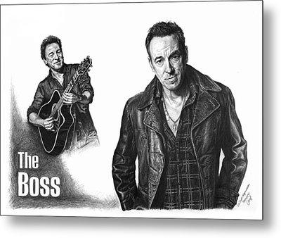The Boss - Bruce Springsteen Metal Print by Iren Faerevaag