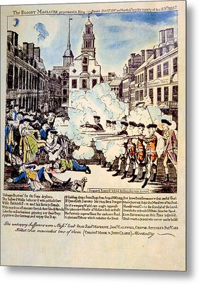 The Boston Massacre, March 5, 1770 Metal Print by Everett