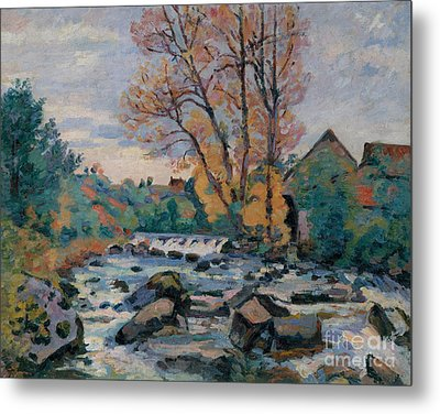 The Bouchardon Mill, Crozant Metal Print by Jean Baptiste Armand Guillaumin