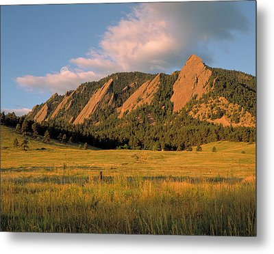 The Boulder Flatirons Metal Print by Jerry McElroy