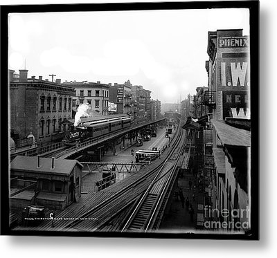 The Bowery Nyc Metal Print by Jon Neidert