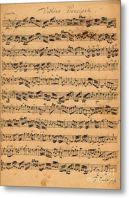The Brandenburger Concertos Metal Print by Johann Sebastian Bach
