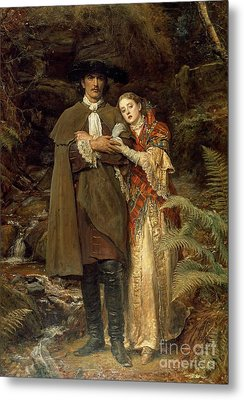 The Bride Of Lammermoor Metal Print by Sir John Everett Millais