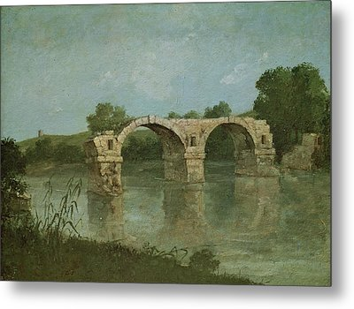 The Bridge At Ambrussum Metal Print by Gustave Courbet
