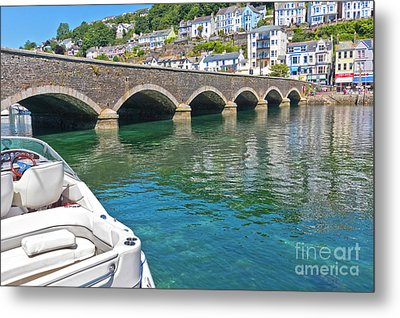 The Bridge To East Looe Metal Print