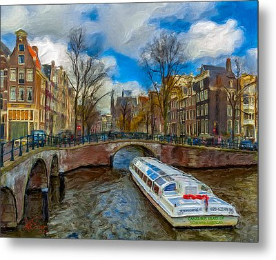 Metal Print featuring the photograph The Bridges Of Amsterdam by Juan Carlos Ferro Duque