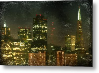 The Bright City Lights Metal Print by Laurie Search