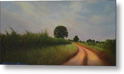 The Brighter Road Ahead Metal Print